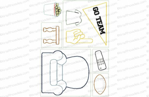 Quiet Book Dollhouse - 5x7 Game Room Embroidery Design