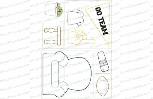 Quiet Book Dollhouse - 6x10 Game Room Embroidery Design