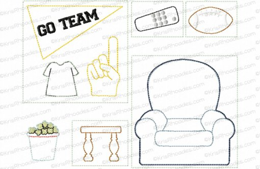 Quiet Book Dollhouse - 8x8 Game Room Embroidery Design