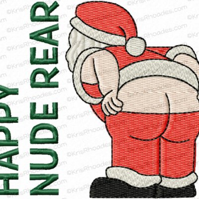 Happy Nude Rear Santa Toilet Paper Embroidery Design