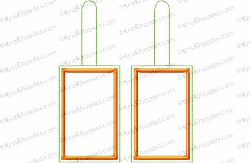 ITH Luggage Tag Embroidery Design