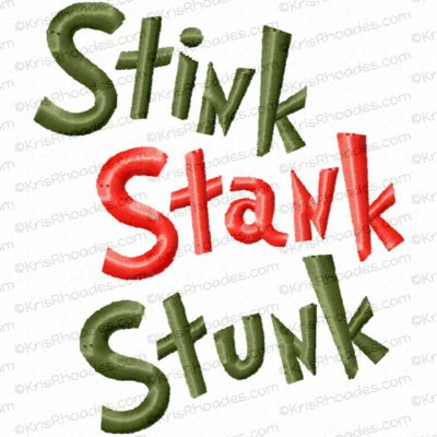 Stink Stank Stunk Toilet Paper Embroidery Design