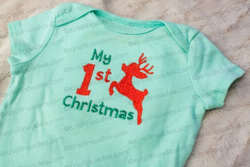 First Christmas Reindeer - 4x4 Embroidery Design