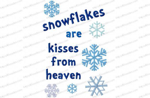 No Snowflake Falls In The Wrong Place Embroidery Design