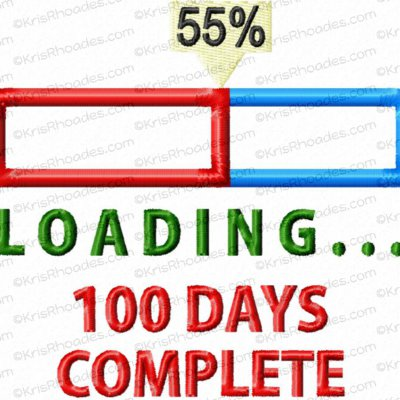 Windows Loading Progress Bar - 100 Days Complete Applique Embroidery Design