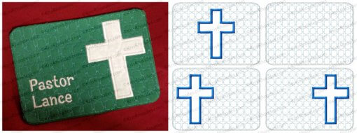 ITH Cross Applique Mug Rug with FREE Coaster Embroidery Design