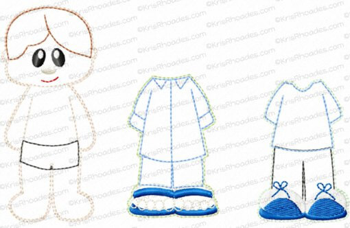Quiet Book Dollhouse - 8x8 Bedroom A Embroidery Design