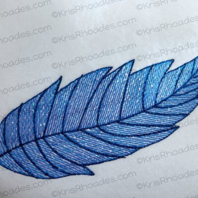 Feather Mylar Embroidery Design