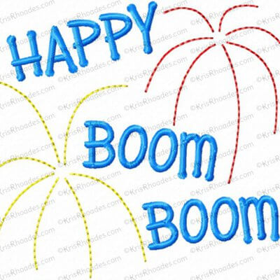 Happy Boom Boom Toilet Paper Embroidery Design
