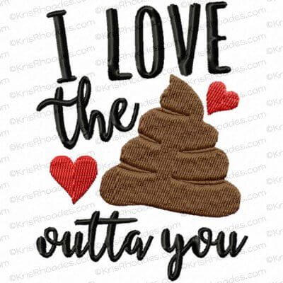 Be A Sweetie Wipe The Seatie Toilet Paper Embroidery Design