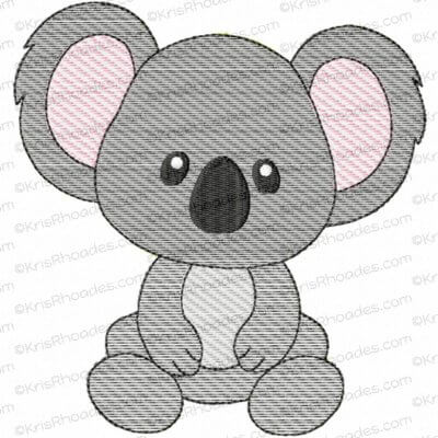 Koala Mylar Embroidery Design