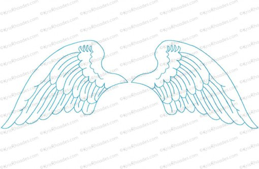 angel wings 10x18 outlined