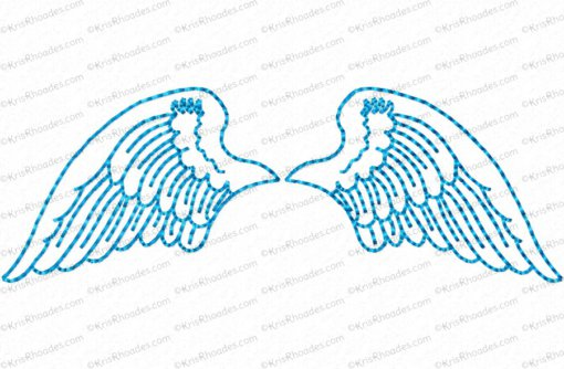 angel wings 4x4 outlined