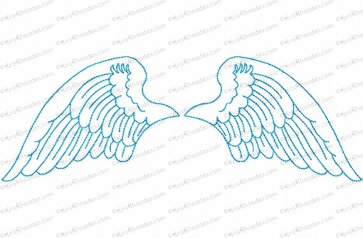 angel wings 6x10 outlined