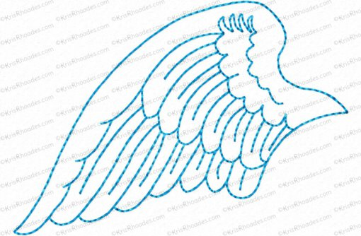 angel wings left 4x4 outlined