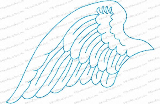 angel wings left 5x7 outlined