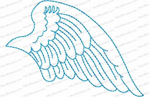 angel wings right 4x4 outlined