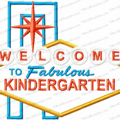 Welcome to Fabulous Kindergarten Applique Design