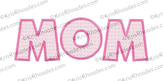 mom lace filled with rope outline