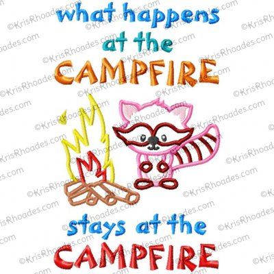 What Happens at Campfire Applique Embroidery Design