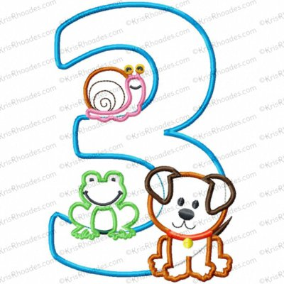 3 frogs snails puppy 5x7