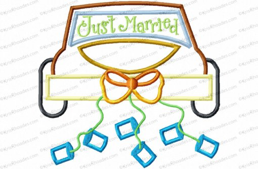 just married car 6x10