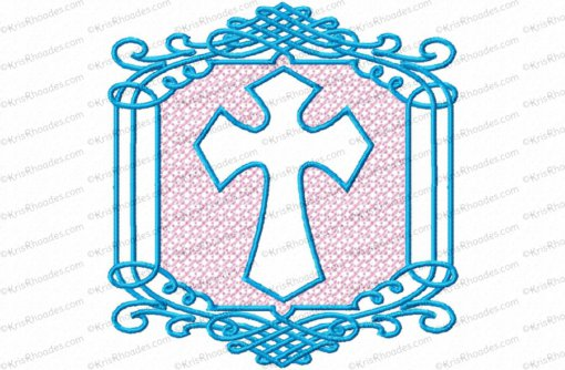 embossed cross 4x4 2 color