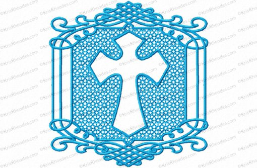 embossed cross 4x4