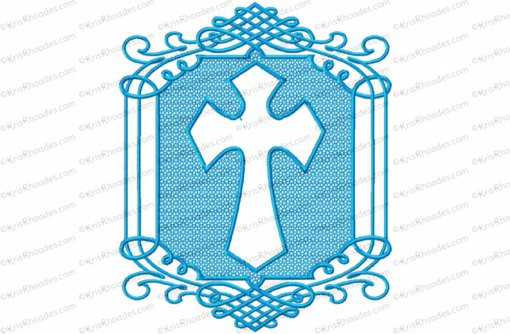 embossed cross 6x10