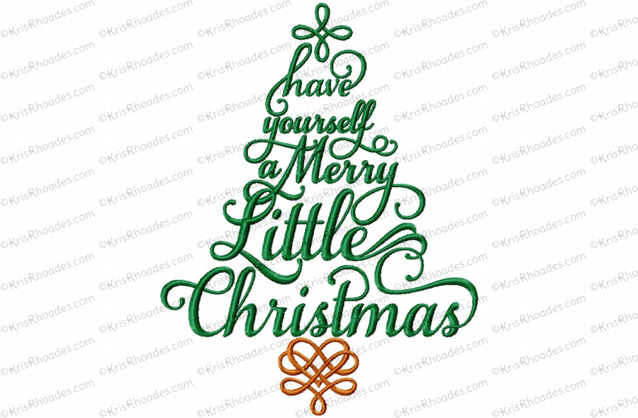Merry Christmas Truck Embroidery Design