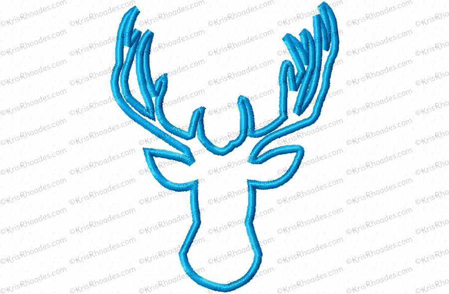 Deer Head 1 Applique Embroidery Design
