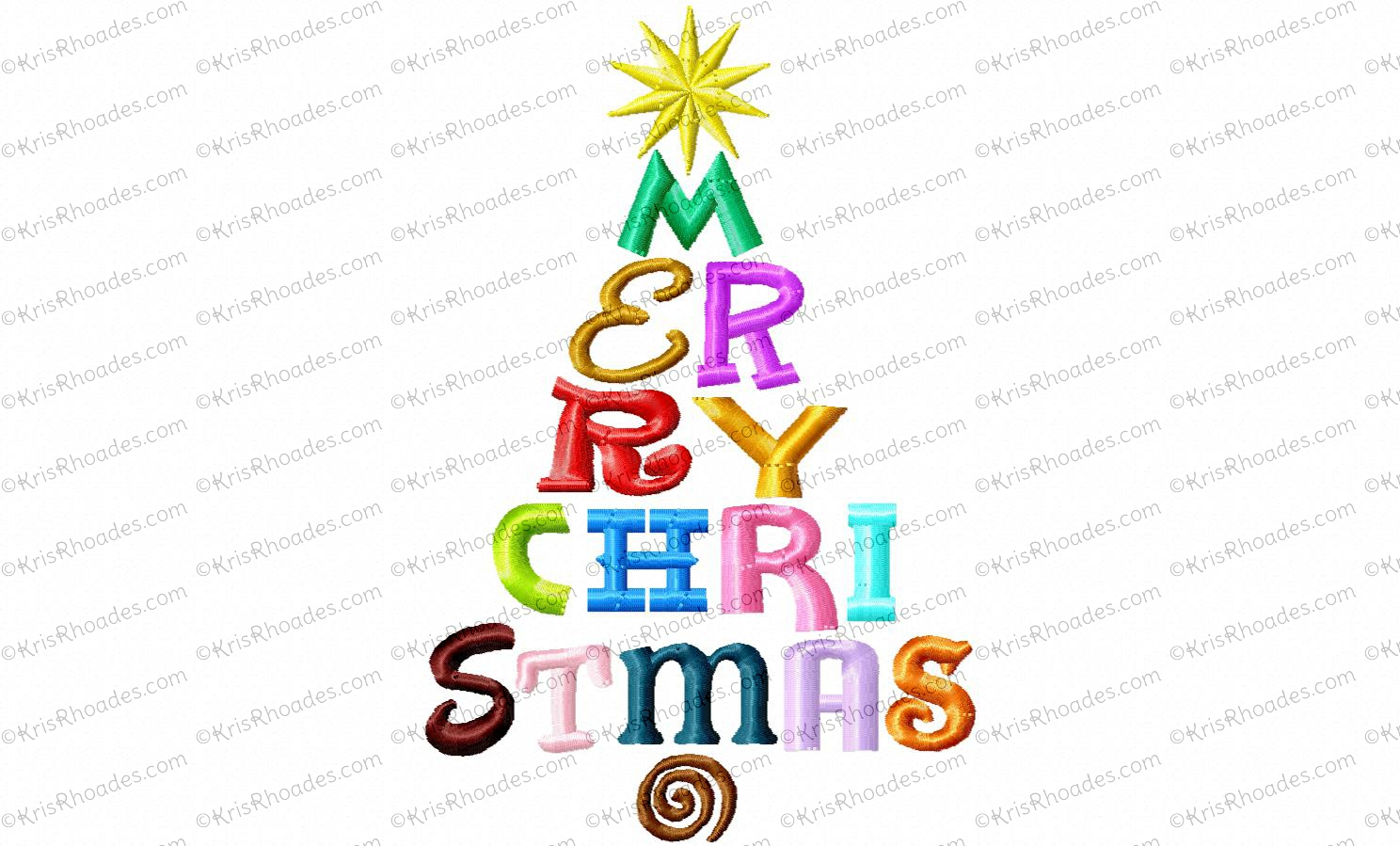 Merry Christmas Fonts Images.Merry Christmas Fonts Tree Embroidery Design