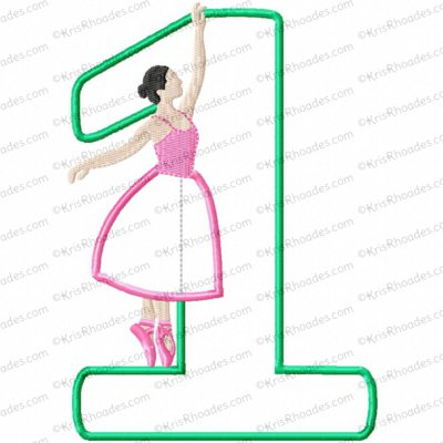Music Box Dancer 1st Birthday Applique Embroidery Design