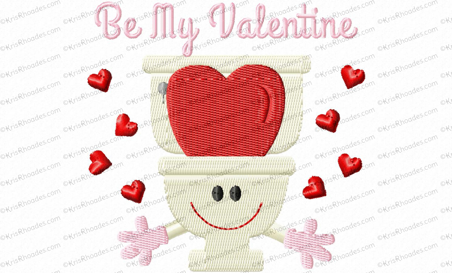 Be My Valentine Toilet Paper Embroidery Design