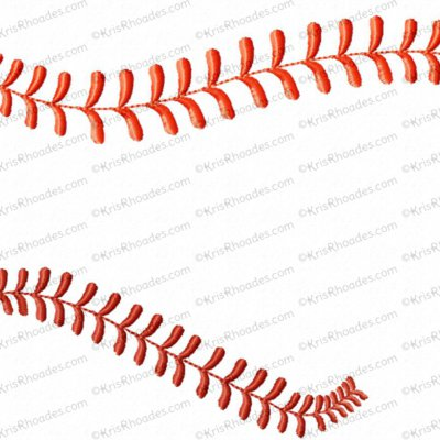 Baseball Border Embroidery Design