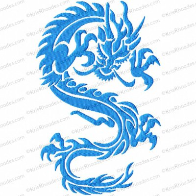 Oriental Dragon Embroidery Design