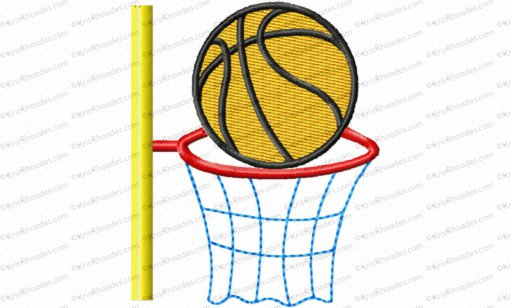 basketball and hoop 3x3 filled