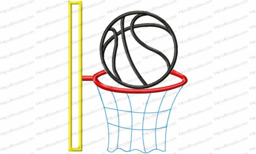 basketball and hoop 6x10