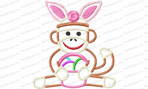 easter sock monkey 5x5