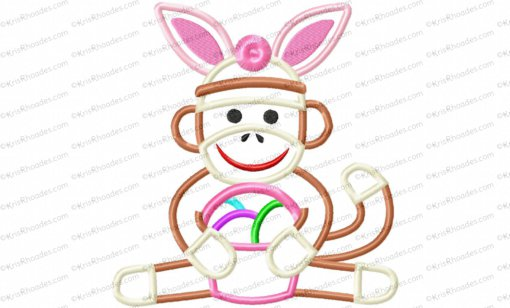 easter sock monkey 8x8