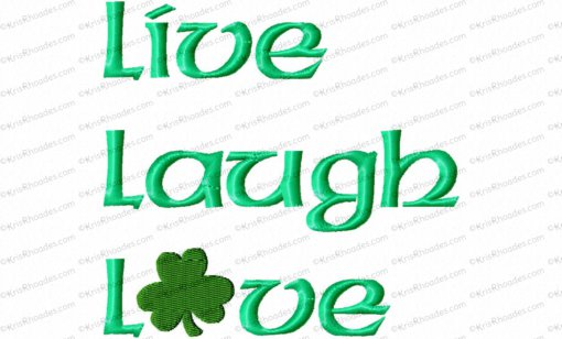 live laugh love with shamrock 5x5