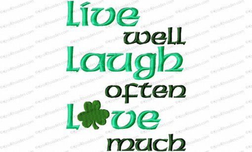 live laugh love with shamrock 5x7