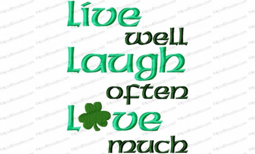 live laugh love with shamrock 6x8