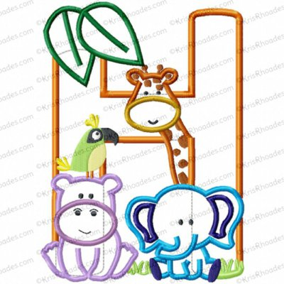 H zoo jungle safari 5x7