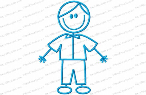 stick figure boy 2 6x10
