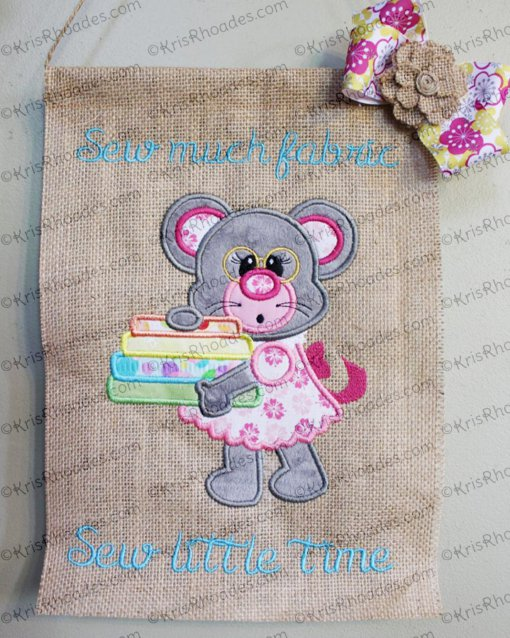 cindy-mouse with fabric