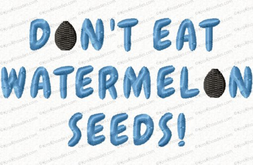 ont eat watermelon seeds 4x4