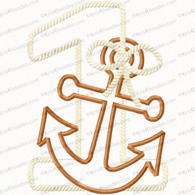 1 nautical birthday 5x7 with bow