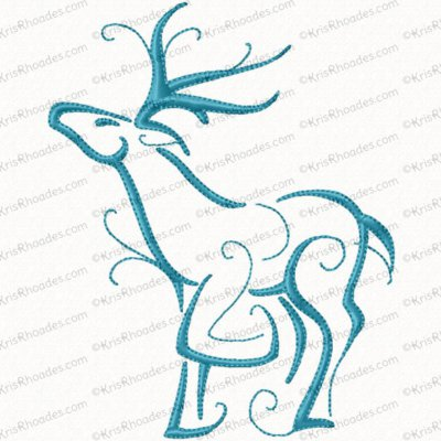 christmas reindeer outline 1 5x7