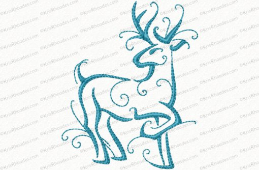 christmas reindeer outline 10 4x4